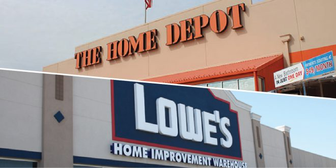 home depot and lowe's