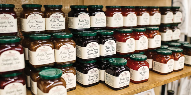 jars of jam on a niche product display